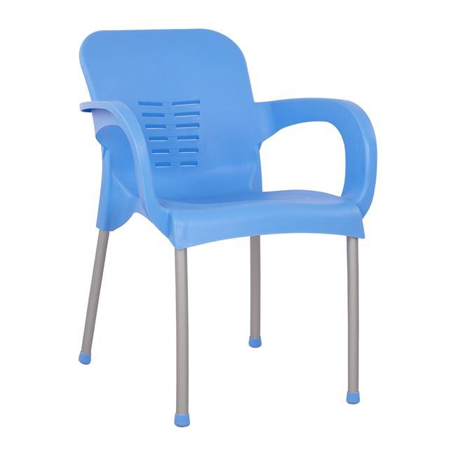 Πολυθρόνα κήπου πολυπροπυλενίου/αλουμινίου σε χρώμα μπλε 59x58x81
