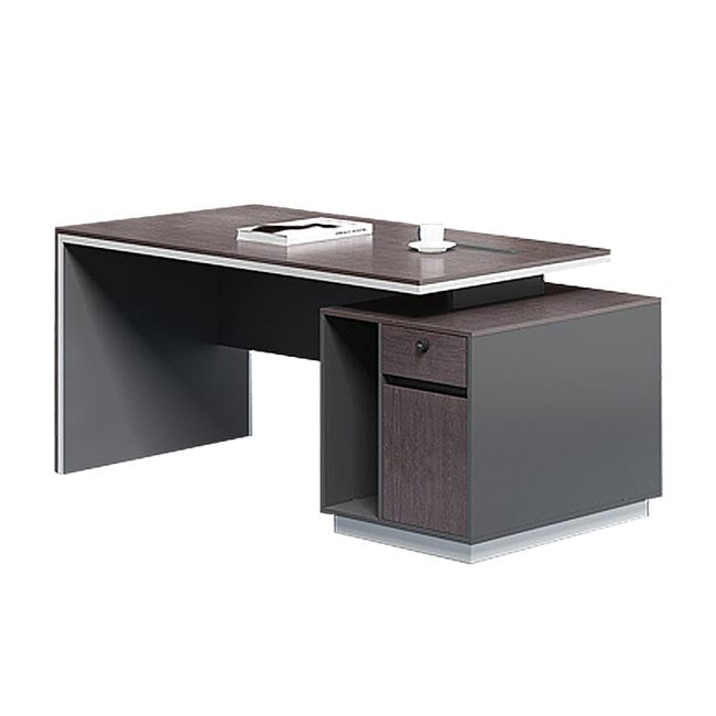 """Γραφείο επαγγελματικό """"ROSEWOOD"""" σε χρώμα γκρι/βέγγε 160x80x76"""