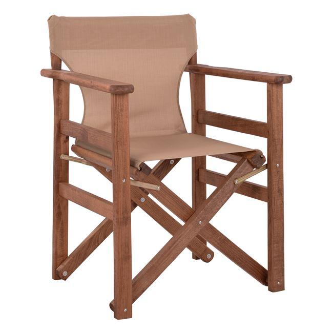 """Πολυθρόνα σκηνοθέτη """"ΝΑΞΟΣ"""" από ξύλο/ύφασμα σε χρώμα μόκα 60x51x86"""