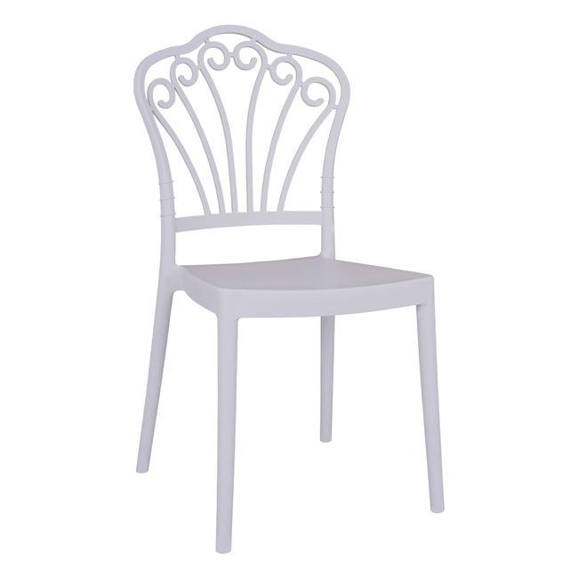 """Καρεκλα """"KINSEY"""" από PP σε χρώμα λευκό 45,5×51,5×89,5"""