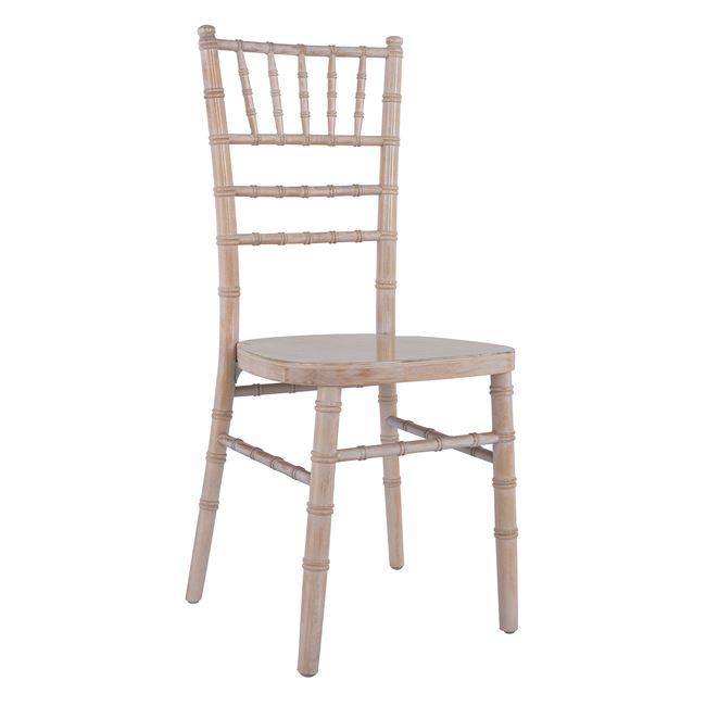 """Καρέκλα """"TIFFANY"""" από ξύλο σε χρώμα εκρού πατίνα 38,5×40,5×92"""