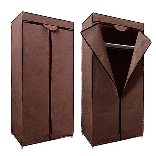 Ντουλάπα από ύφασμα σε χρώμα καφέ 70x45x156