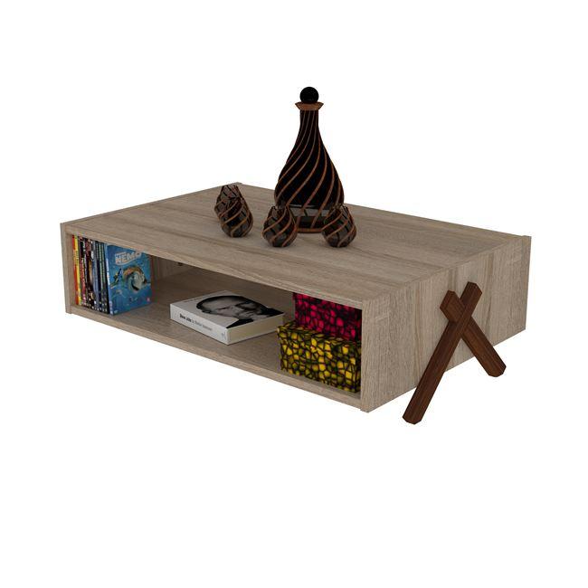 """Τραπέζι σαλονιού """"KIPP"""" σε χρώμα σονόμα/καρυδί 93,5×60,5×28,5"""