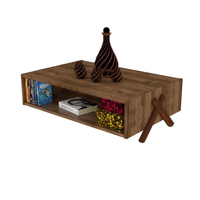 """Τραπέζι σαλονιού """"KIPP"""" σε χρώμα καρυδί 93,5×60,5×28,5"""