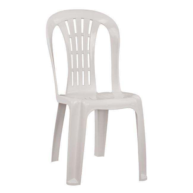 """Καρέκλα κήπου """"Βιέννης"""" από PP σε χρώμα λευκό 45x50x88"""