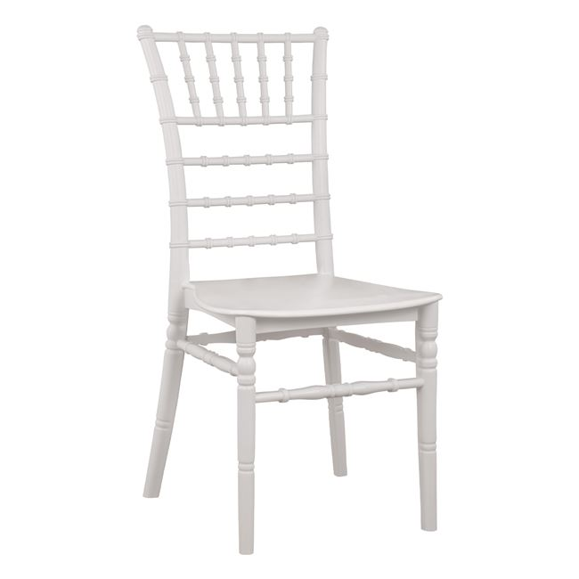 """Καρέκλα """"CATERING TIFFANY"""" από PP σε χρώμα λευκό 40x49x90"""