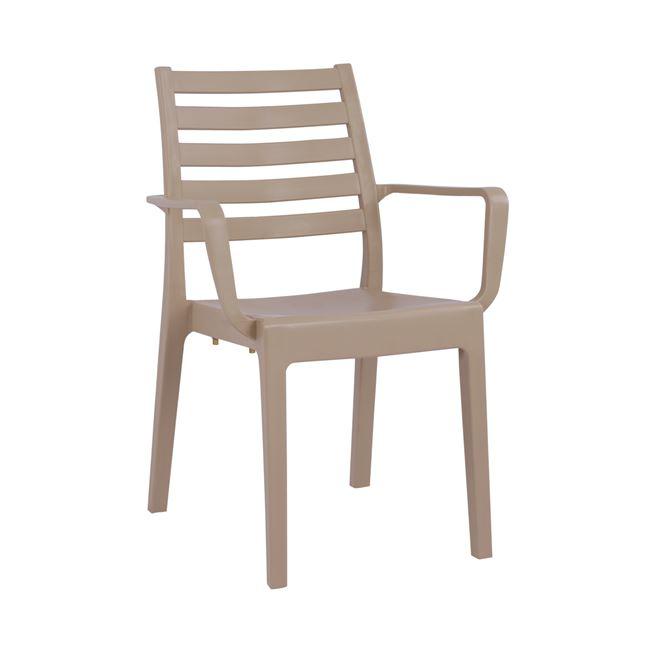 """Καρέκλα κήπου """"JARDIN"""" από PP σε χρώμα καπουτσίνο 58x53x84"""