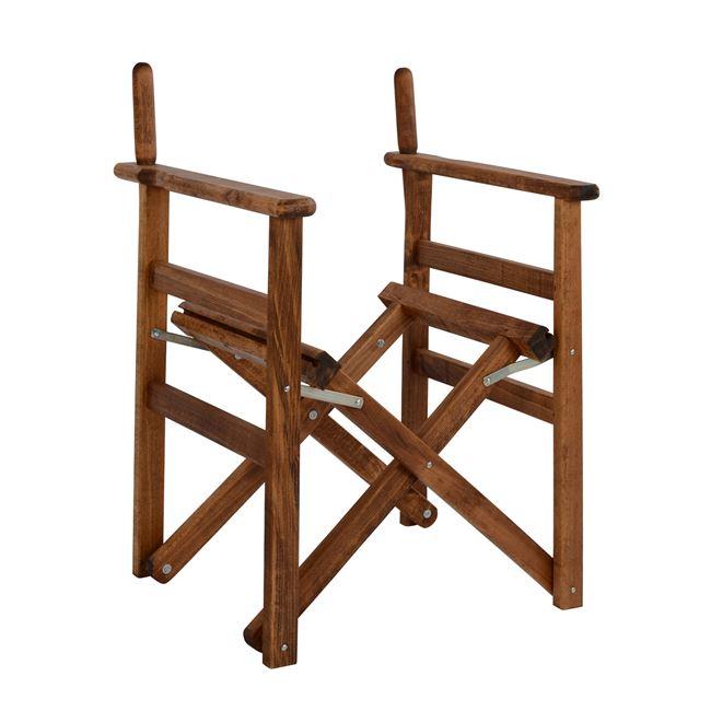 """Πολυθρόνα σκηνοθέτη """"ΝΑΞΟΣ"""" από ξύλο σε χρώμα καρυδί 58x51x83,5"""