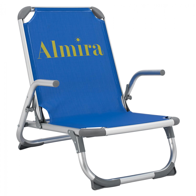 Πολυθρόνα παραλίας βαρέως τύπου από αλουμίνιο σε μπλε χρώμα 53x62x69