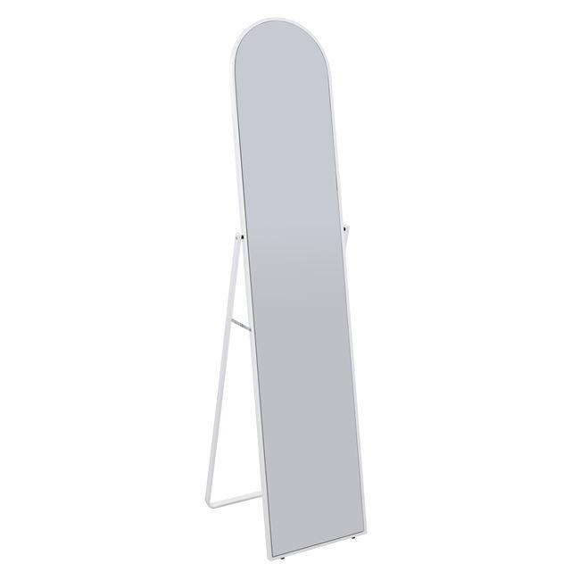 Καθρέπτης δαπέδου μεταλλικός σε λευκό χρώμα 39x44x160