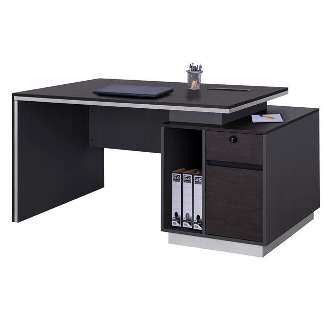 """Γραφείο επαγγελματικό """"ROSEWOOD"""" με δεξί ντουλάπι σε χρώμα γκρι-βέγγε 180x80x76"""