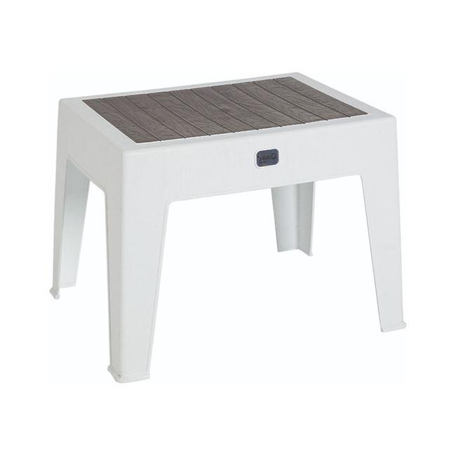 Τραπεζάκι πολυπροπυλενίου σε χρώμα λευκό/ανθρακί 55x40x43,5