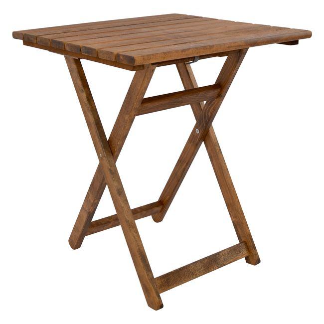 """Τραπέζι σκηνοθέτη """"ΝΑΞΟΣ"""" από μασίφ ξύλο σε καρυδί χρώμα 62x60x72"""