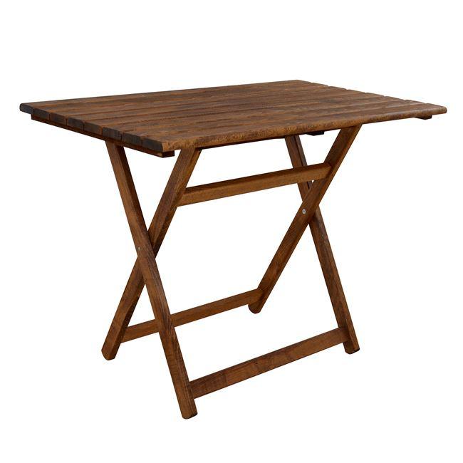 """Τραπέζι σκηνοθέτη """"ΝΑΞΟΣ"""" από ξύλο μασίφ σε καρυδί χρώμα 110x70x74"""