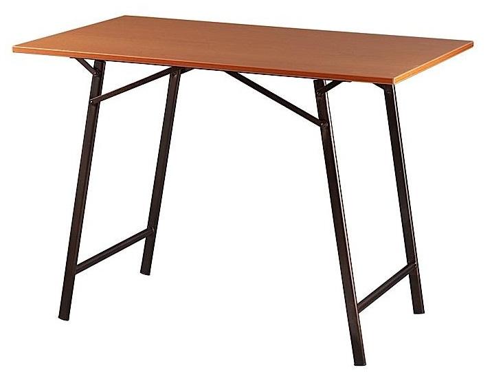 Τραπέζι μεταλλικό σε χρώμα μαύρο/καφέ 60×90