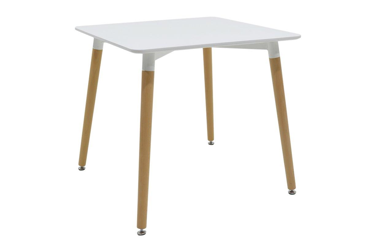 """Τραπέζι """"NATALI"""" τετράγωνο σε χρώμα λευκό 80x80x76"""