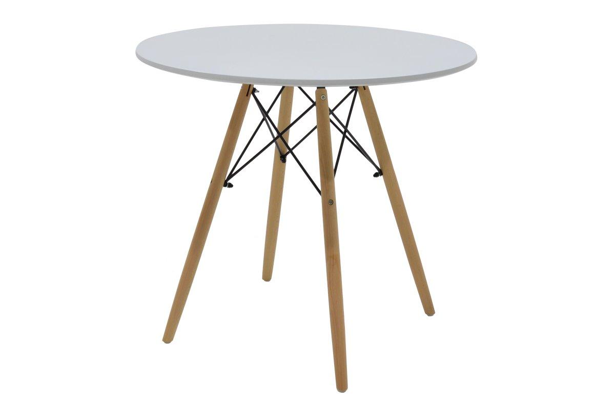 """Τραπέζι """"JULITA"""" στρογγυλό σε χρώμα λευκό Φ80×73"""