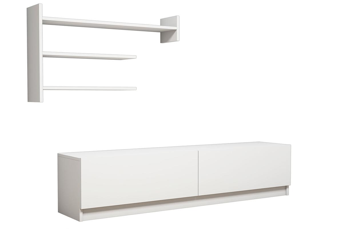 """Σύνθεση σαλονιού """"MARTIN TV"""" σε χρώμα λευκό 160x34x40"""