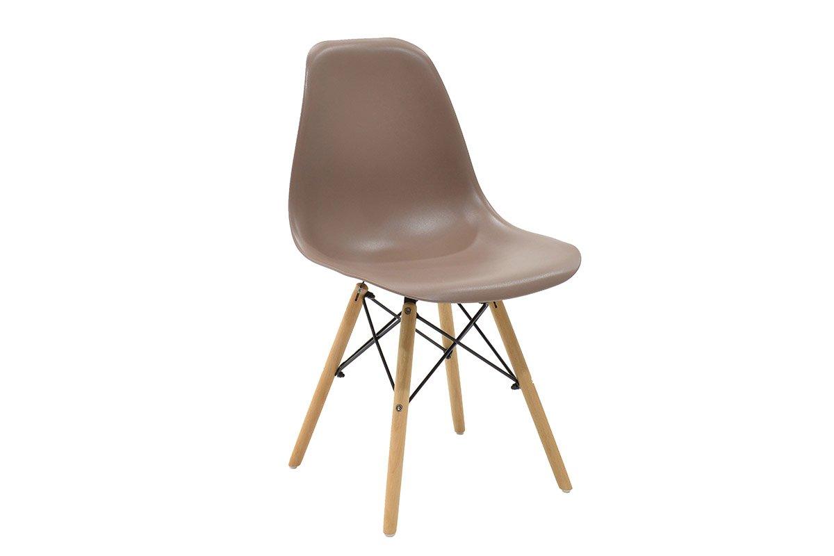 """Καρέκλα """"JULITA"""" pp σε χρώμα μόκα 52.5×46.50×82.5"""