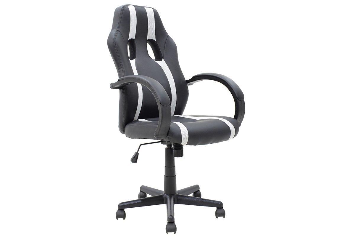 """Καρέκλα γραφείου """"BUCKET-FIGHTER"""" σε χρώμα μαύρο-λευκό 68x62x107"""
