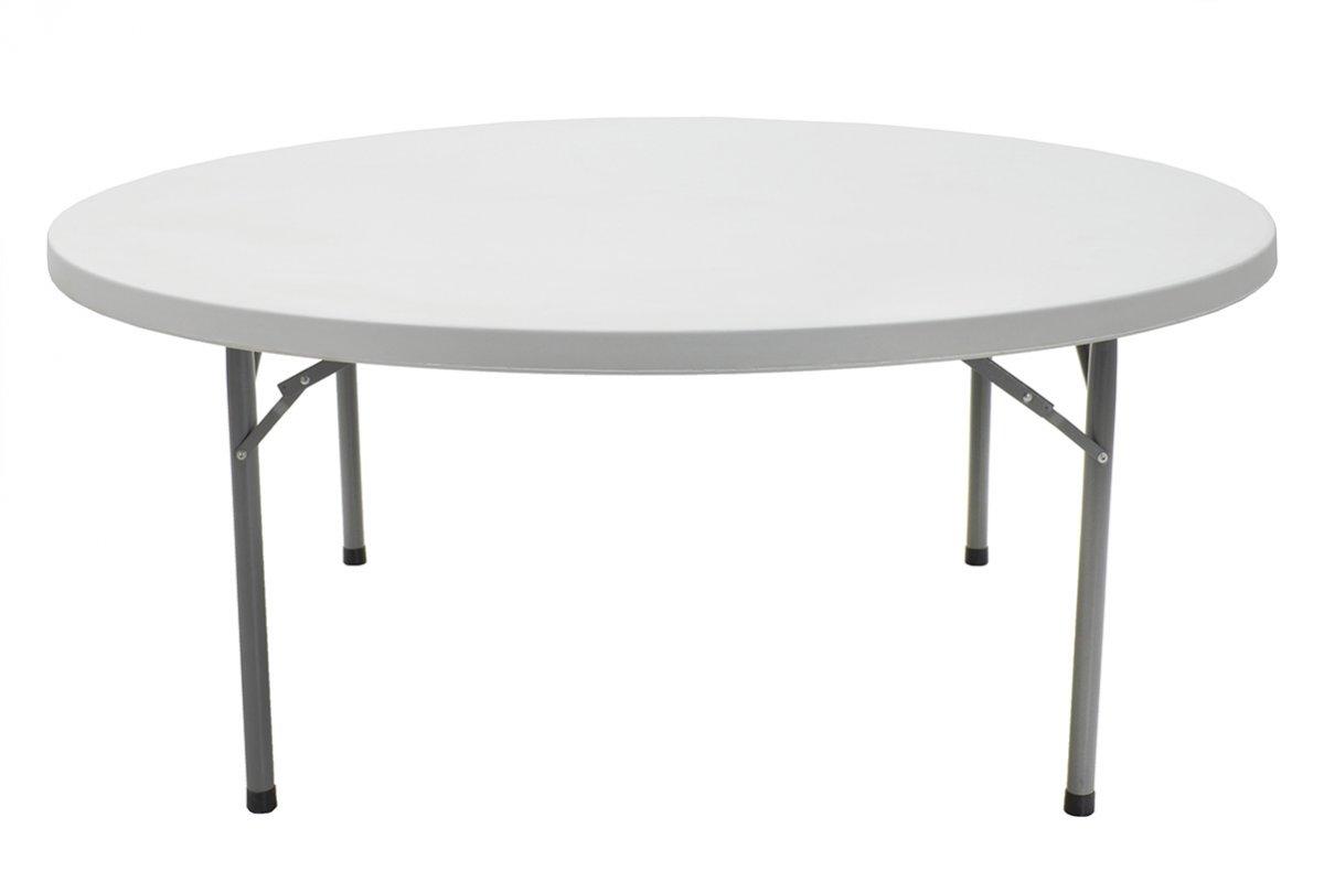 Τραπέζι catering-συνεδρίου «COMFORT» στρόγγυλο σε λευκό χρώμα Φ184×74