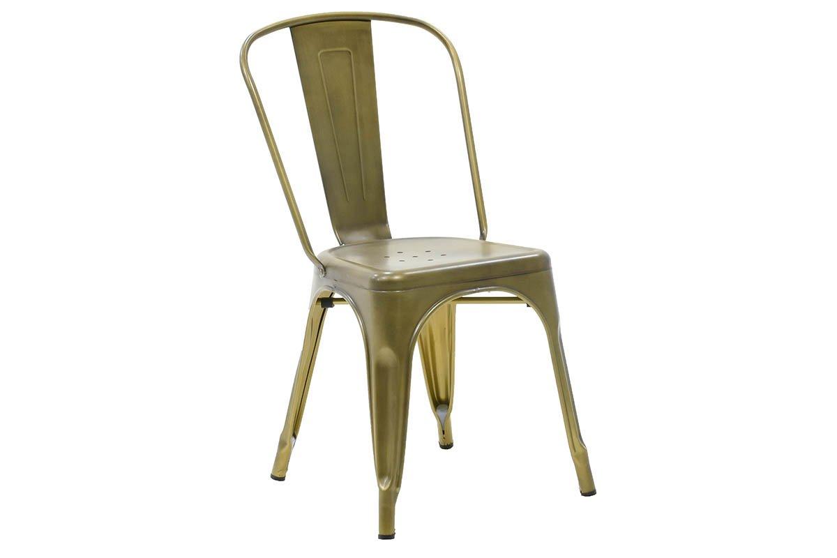 Καρέκλα «UTOPIA» μεταλλική σε χρώμα χρυσό μαύρο 50x44x84