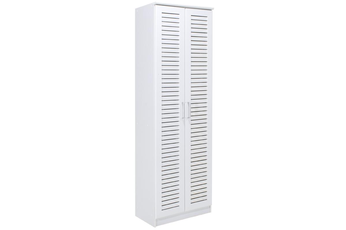 """Παπουτσοθήκη-ντουλάπα """"SANTE"""" σε χρώμα λευκό 60x40x183"""