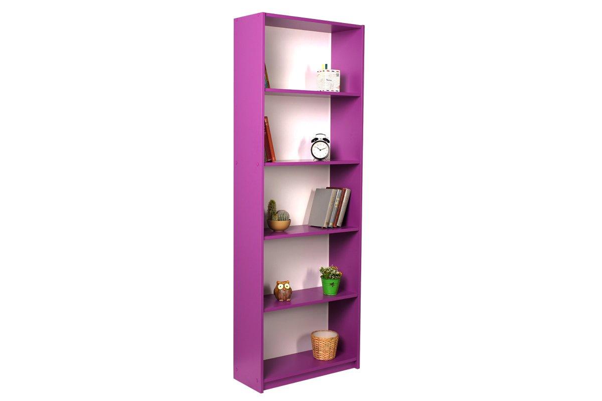 """Βιβλιοθήκη """"MAX"""" σε μωβ χρώμα 58x23x170"""