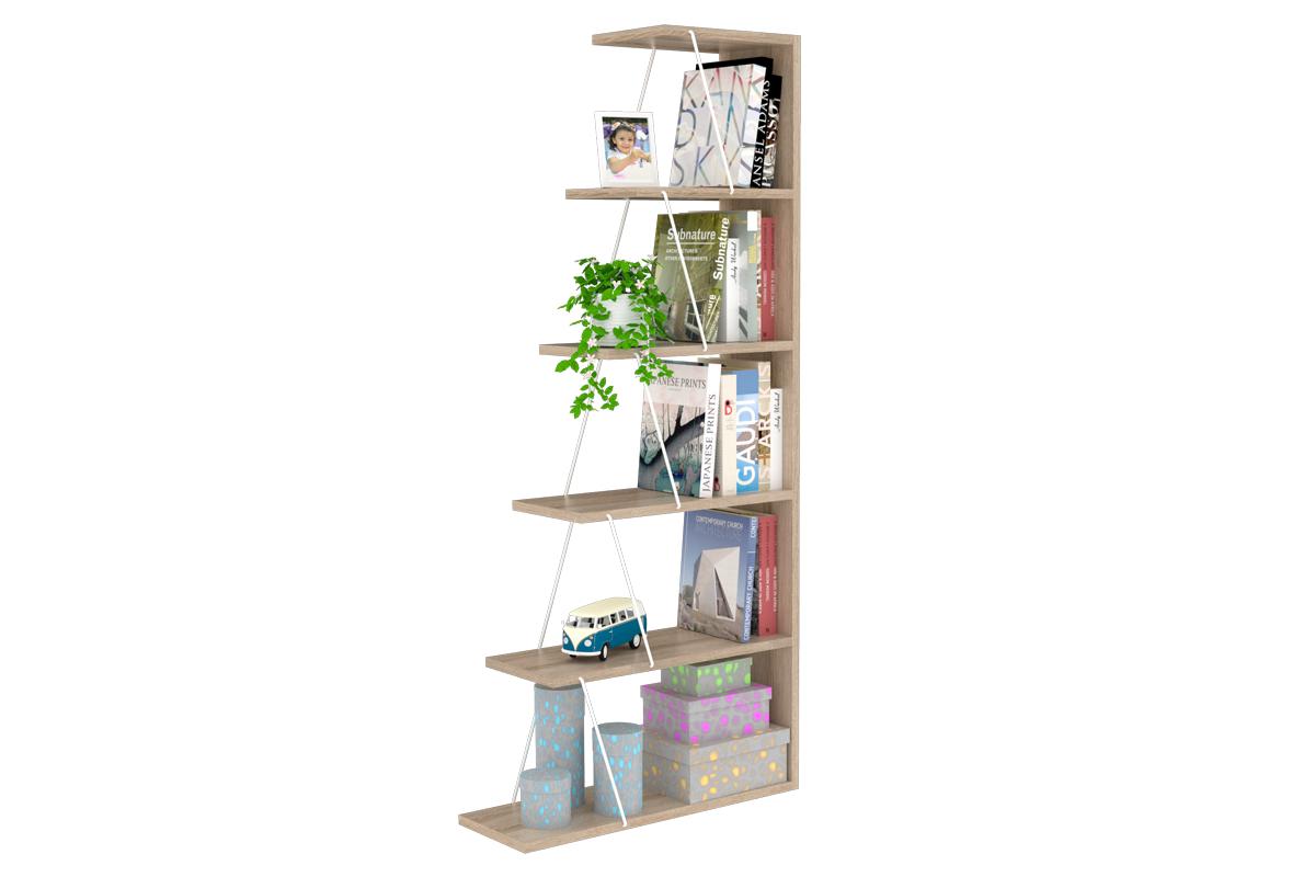 """Βιβλιοθήκη """"MINI TARS"""" σε χρώμα σονόμα 65x22x146"""