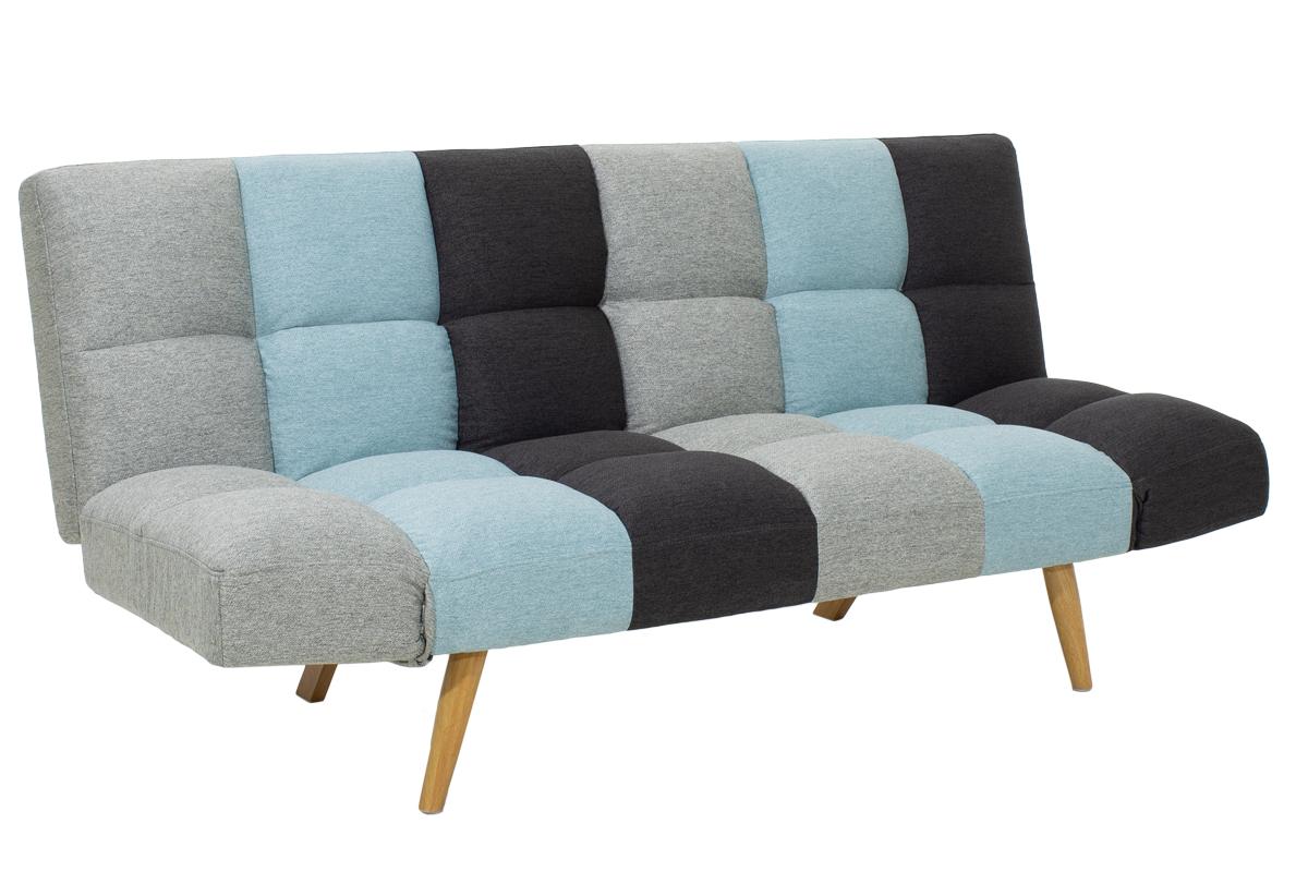 """Καναπές-κρεβάτι τριθέσιος """"FREDDO"""" υφασμάτινος πολύχρωμος 182x81x84"""
