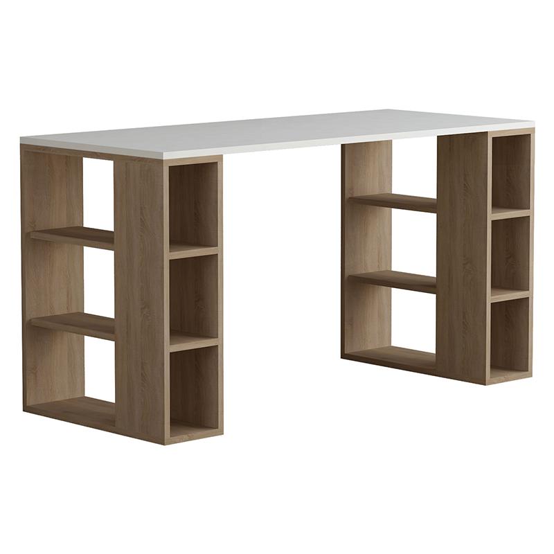 """Γραφείο εργασίας """"COLMAR"""" σε χρώμα λευκό -σκούρο φυσικό 140x60x75"""