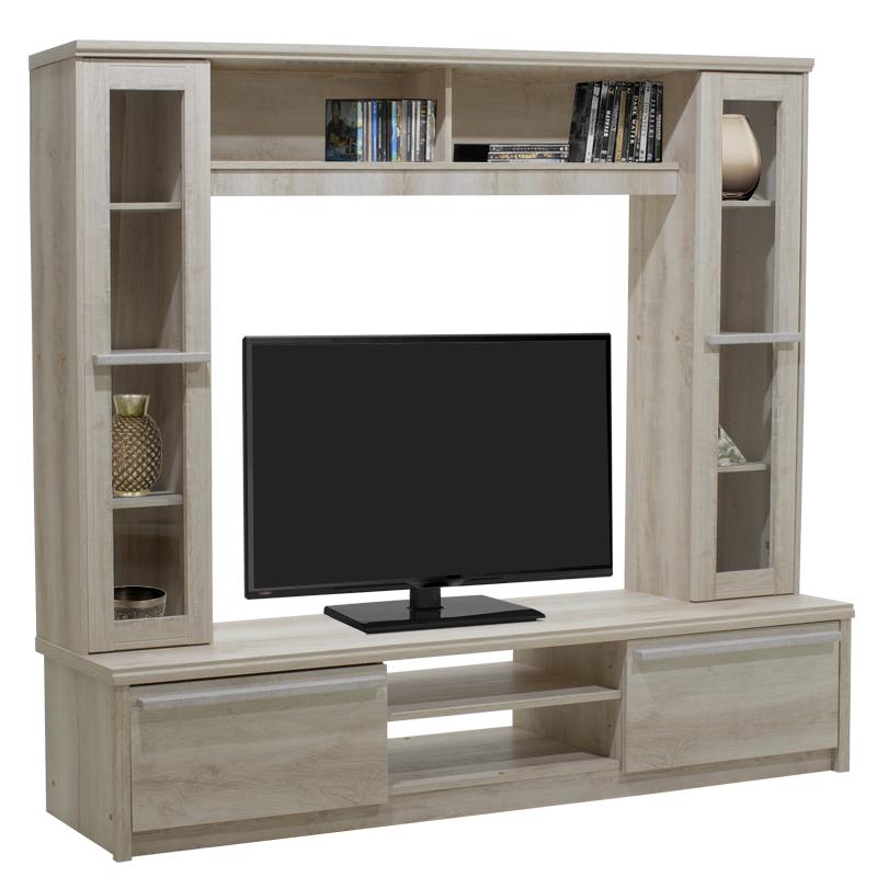 """Σύνθεση σαλονιού """"CHICO TV"""" σε χρώμα castillo δρυς 180,5x40x158"""
