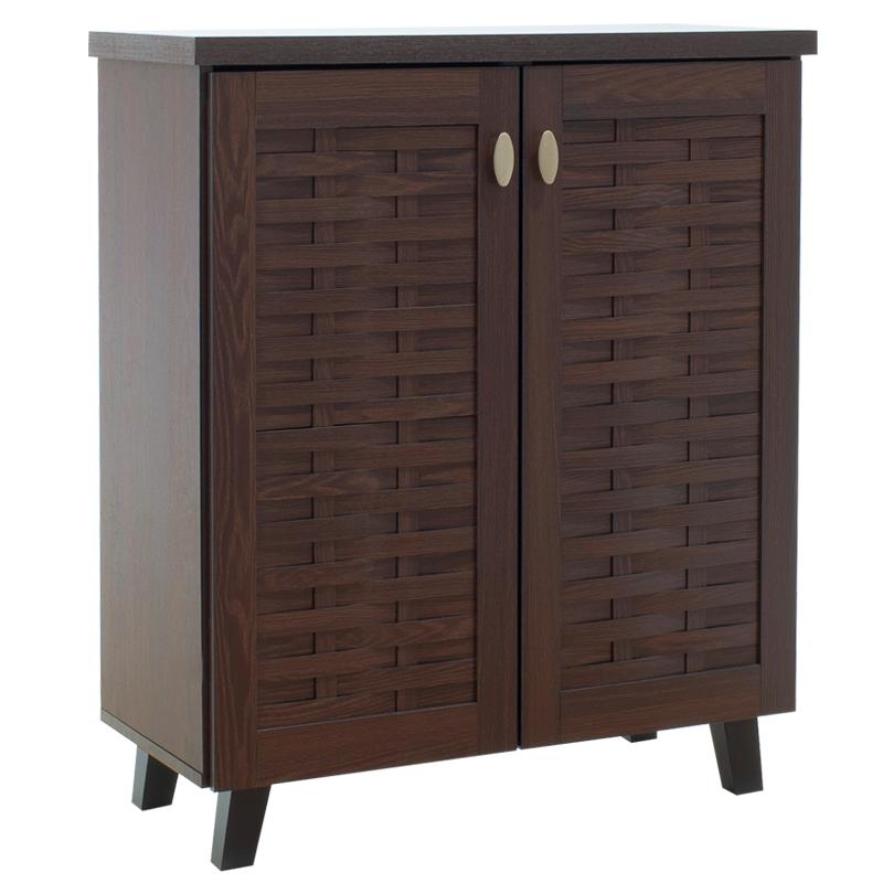 """Παπουτσοθήκη-ντουλάπι """"MANTAM"""" σε χρώμα καρυδί 78x40x92"""