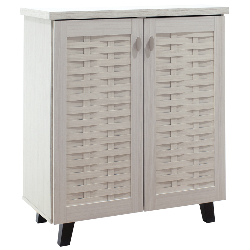 """Παπουτσοθήκη-ντουλάπι """"MANTAM"""" σε χρώμα λευκό-γκρι 78x40x92"""