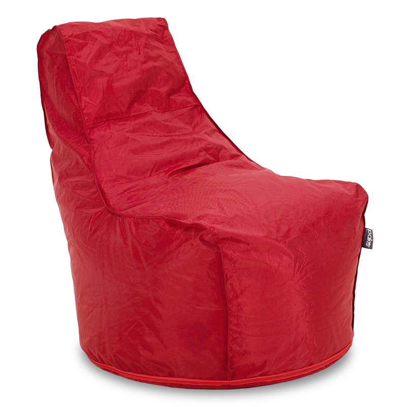 """Πουφ πολυθρόνα """"BOLT"""" με αδιάβροχο κάλυμμα σε κόκκινο χρώμα 77x77x90"""