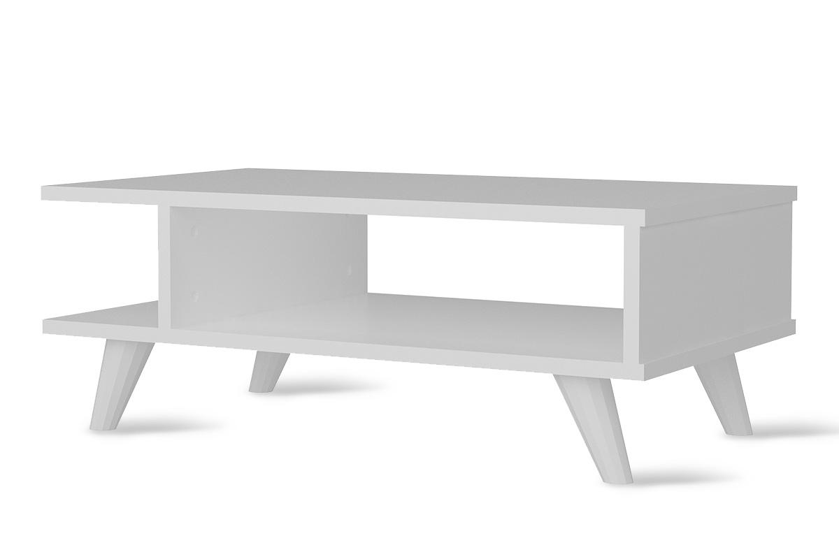 Τραπεζάκι σαλονιού σε χρώμα λευκό 80x45x30