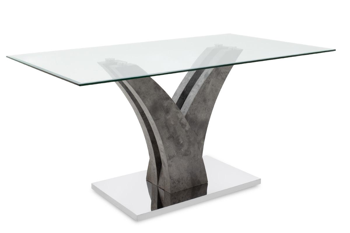 """Τραπέζι """"GULL"""" ορθογώνιο σε χρώμα γκρι cement 150x90x76"""