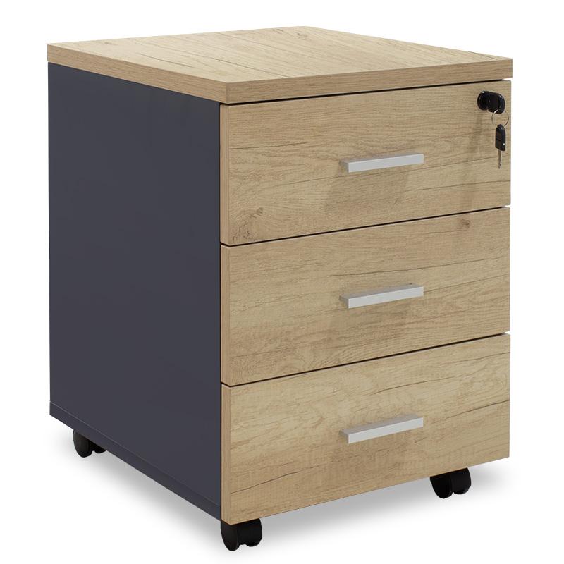 """Συρταριέρα τροχήλατη """"LOTUS"""" σε χρώμα φυσικό/ανθρακί 40x47x55"""