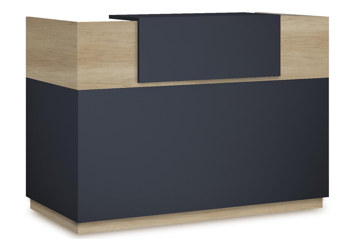 """Γραφείο reception """"LOTUS"""" σε χρώμα φυσικό/ανθρακί 180x70x110"""