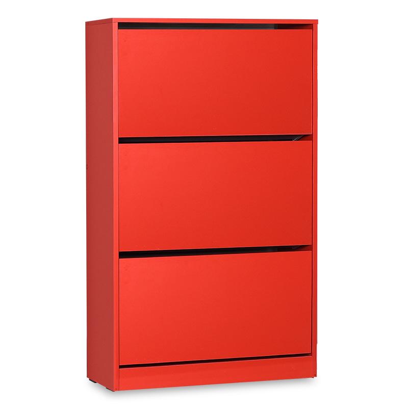 Παπουτσοθήκη ανακλινόμενη σε χρώμα κόκκινο 73x26x119