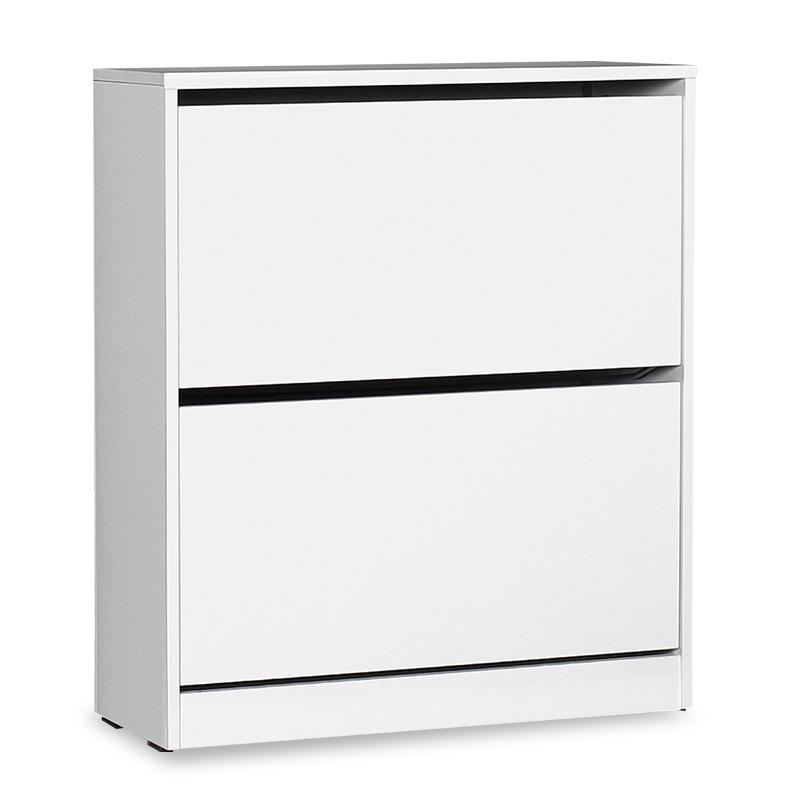 Παπουτσοθήκη ανακλινόμενη σε χρώμα λευκό 73x26x84