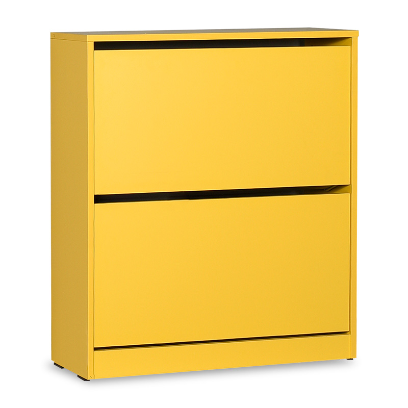 Παπουτσοθήκη ανακλινόμενη σε χρώμα κίτρινο 73x26x84