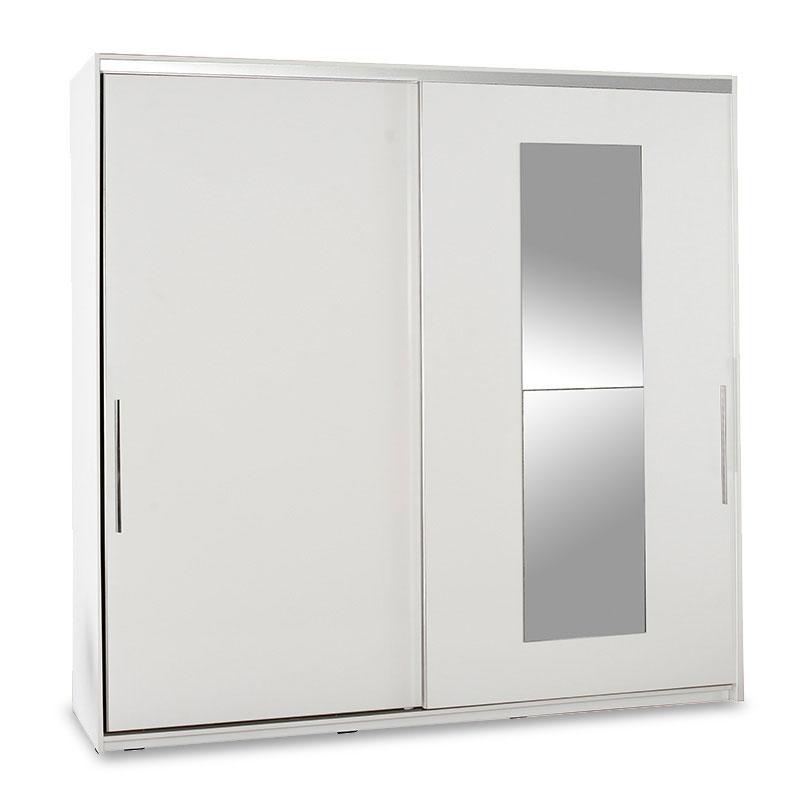 """Ντουλάπα ρούχων """"SLIDE"""" δίφυλλη σε χρώμα λευκό 210x60x207"""