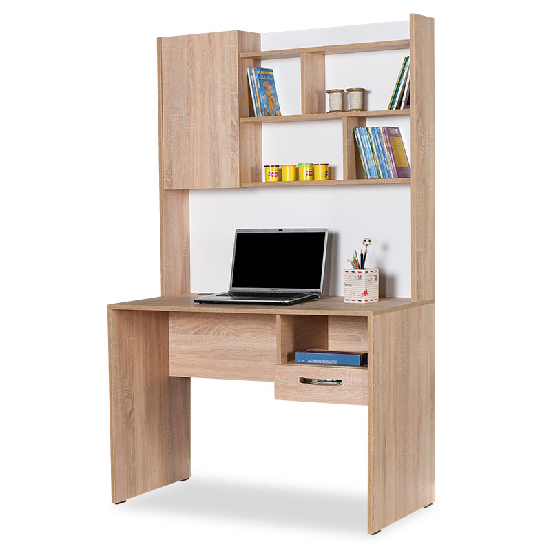 """Γραφείο εργασίας """"MILANO"""" με εταζέρα σε χρώμα σονόμα 105x55x174"""