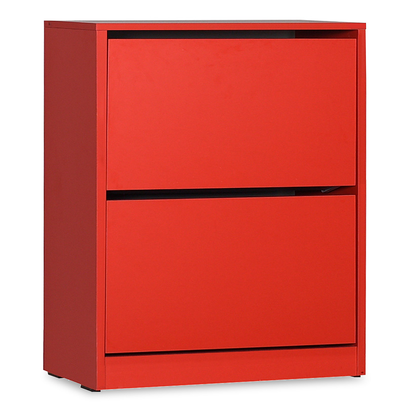 Παπουτσοθήκη ανακλινόμενη σε χρώμα κόκκινο 73x26x84