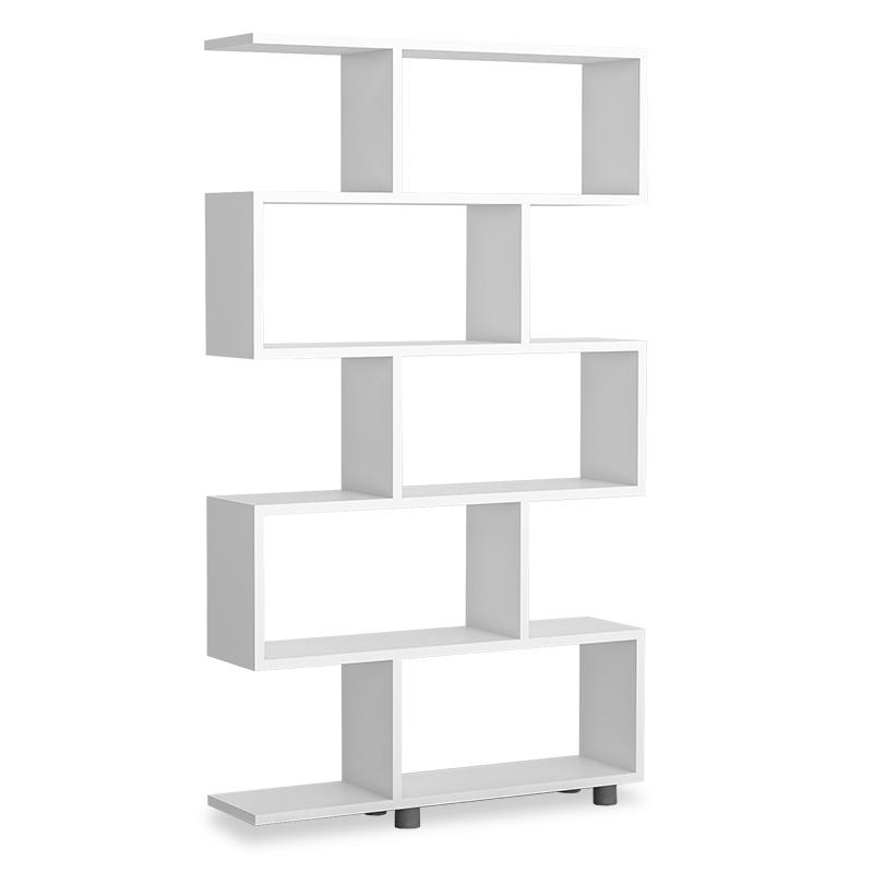 """Βιβλιοθήκη """"PWF-0233"""" σε λευκό χρώμα 90x20x156"""