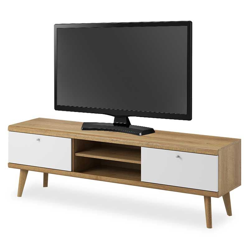 """Έπιπλο τηλεόρασης """"PRIMO"""" σε χρώμα φυσικό-λευκό 160x40x50"""