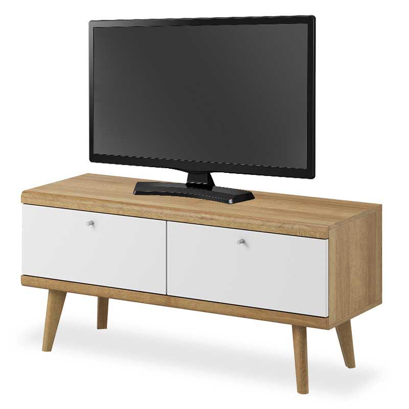 """Έπιπλο τηλεόρασης """"PRIMO"""" σε χρώμα φυσικό-λευκό 107x40x50"""