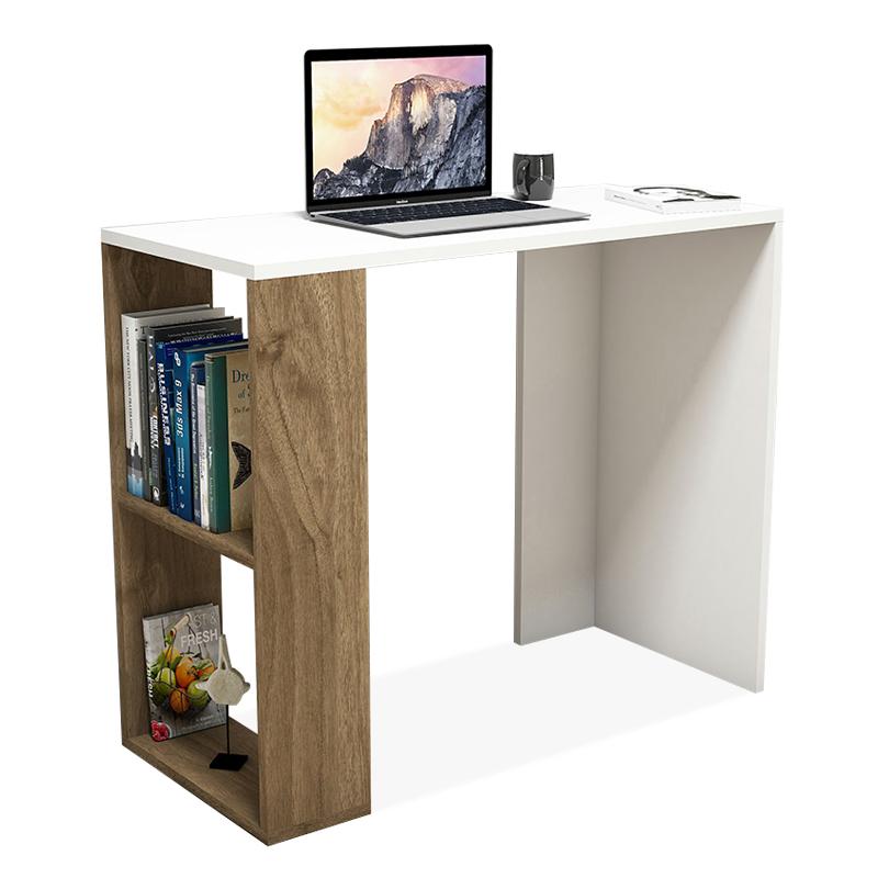 """Γραφείο εργασίας """"NANO"""" σε λευκό-καρυδί χρώμα 90x40x75"""
