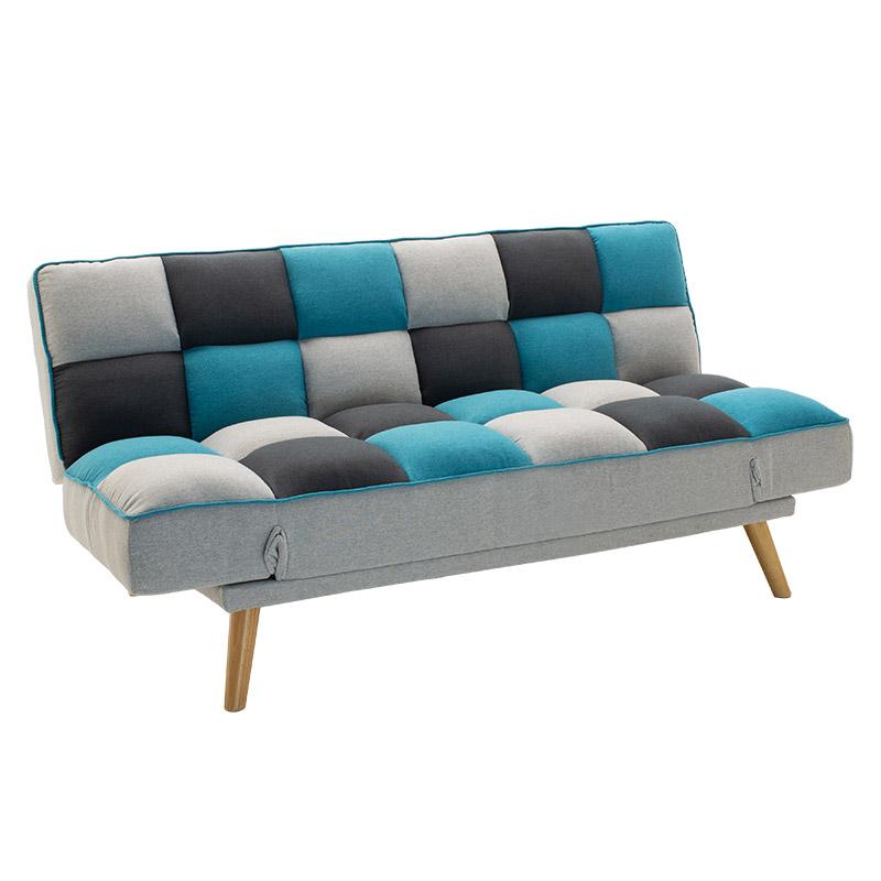 """Καναπές-κρεβάτι 3θέσιος """"ANDY"""" υφασμάτινος πολύχρωμος 178x91x86"""